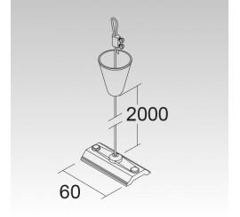 Seilabhängung 2m und 60mm Platine