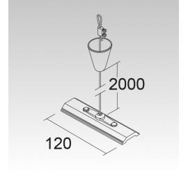 Seilabhängung 2m und 120mm Platine